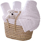 more details on Clair de Lune Polly Moses Gift Basket - White.