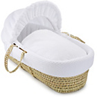 more details on Clair de Lune Honeycomb Palm Moses Basket - White.