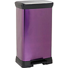 more details on ColourMatch 50L Pedal Bin - Purple Fizz.