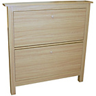 more details on 8 Pair Shoe Organiser Cabinet - Oak.