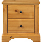 more details on Heart of House Warwick 2 Drawer Bedside Chest - Oak Effect.
