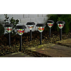 more details on Tiffany Style Solar Lights - Set of 6.
