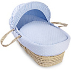 more details on Clair de Lune Dimple Palm Moses Basket - Blue.
