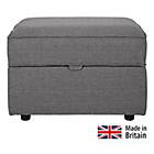more details on Collection Ashdown Footstool with Storage - Grey.