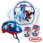 more details on Spiderman Protection Set and Hlelmet.