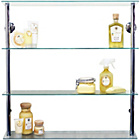 more details on Wide Glass Shelving Unit - Clear.