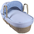 more details on Clair de Lune Cotton Candy Palm Moses Basket - Blue.