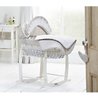 more details on Clair de Lune Bedtime Story White Wicker Moses Basket.