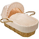 more details on Clair de Lune Marshmallow Palm Moses Basket - Cream.