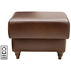 more details on Heart of House Argyll Leather Footstool - Tan.