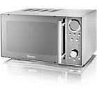 more details on Swan SM3080N 20 Litre 800w Solo Microwave - Chrome.