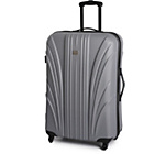 more details on Go Explore Large 4 Wheel Suitcase - Silver.