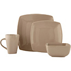 more details on Bosa 16 Piece Square Stoneware Dinner Set - Natural.