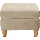 more details on Heart of House Colby Fabric Footstool - Beige.