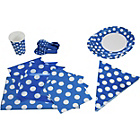 more details on Decorative Dots Party Kit for 16 - Royal Blue.