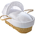 more details on Clair de Lune Marshmallow Palm Moses Basket - White.