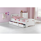 more details on Mia White Single Bed Frame with Ashley Mattress.