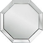 more details on Heart of House Savoy Octagonal Bevelled Wall Mirror - Silver
