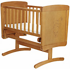 more details on Obaby B is for Bear Gliding Crib - Country Pine.
