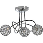 more details on Heart of House Amy 3 Light Ceiling Fitting - Chrome.