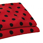more details on Clair de Lune Fun and Funky Pram Blanket - Ladybird.