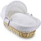 more details on Clair de Lune Honeycomb Natural Wicker Moses Basket - White.