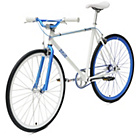 more details on Chill Bike 58cm with Blue Rims - White.