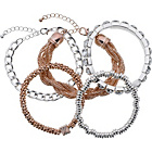 more details on Multi Bracelets Rose - Set of 5.