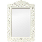more details on Casa Filigree Vintage White Wall Mirror.