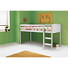 more details on Kelsey White Mid Sleeper Bed Frame with Ashley Mattress.