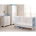 more details on Saplings Kitty Nursery Furniture Set - White and Blue.