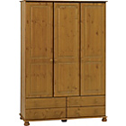 more details on Richmond 3 Door 4 Drawer Wardrobe - Antique Pine.