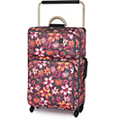 more details on IT Luggage World's Lightest Medium 4 Wheel Suitcase -Floral.