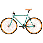 more details on Chill Bike 53cm with Orange Rims - Turquoise.