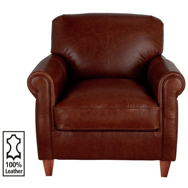 Buy heart of house kingsley leather club chair tan at for Buy living room chairs