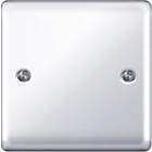 more details on Masterplug Single Blanked Plate - Polished Chrome.