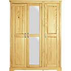 more details on Collection Mendoza 3 Door Mirrored Wardrobe - Pine.