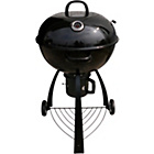 more details on Grill King 56cm Shiny Porcelain Kettle BBQ - Black.