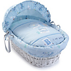 more details on Clair de Lune Ahoy White Wicker Moses Basket.
