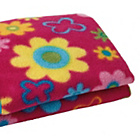 more details on Clair de Lune Fun and Funky Pram Blanket - Flower.