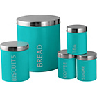 more details on ColourMatch 5 Piece Storage Set - Aqua.