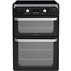 more details on Hotpoint HUI612K Double Electric Cooker - Black.