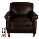 more details on Heart of House Kingsley Leather Club Chair - Brown.
