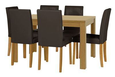 Buy HOME Penley Extendable Dining Table and 6 Chairs Oak  : 3337701RSETTMBampwid620amphei620 from www.argos.co.uk size 620 x 620 jpeg 23kB