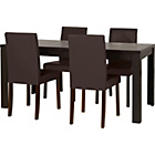 more details on HOME Penley Ext Dining Table and 4 Chairs - Walnut Stain.