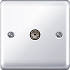 more details on Masterplug Single Co-Axial Socket - Polished Chrome.