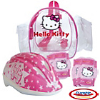 more details on Hello Kitty Protection Set and Helmet.