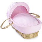 more details on Clair de Lune Dimple Palm Moses Basket - Pink.