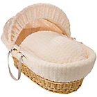 more details on Clair de Lune Marshmallow Natural Wicker Moses Basket -Cream