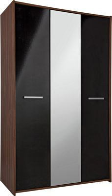 Buy HOME New Sywell 3 Door Wardrobe - Walnut Effect ...